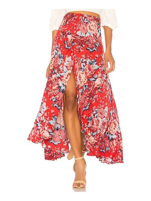 AUGUSTE Shirred Waist Maxi Skirt