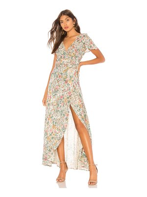 AUGUSTE Spring Rose Wrap Maxi Dress