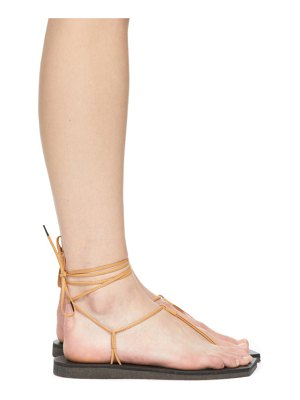 AURALEE & beige foot the coacher edition leather lace-up sandals