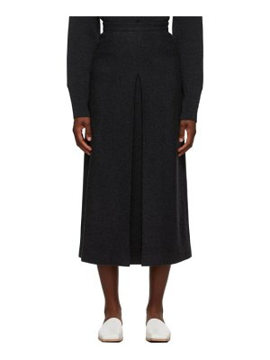 AURALEE grey melton wool skirt