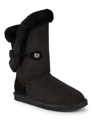 Australia Luxe Collective Nordic Shearling & Suede Buckle Short Boots