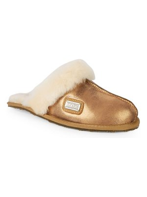 Australia Luxe Collective Shearling & Leather Mule Slides