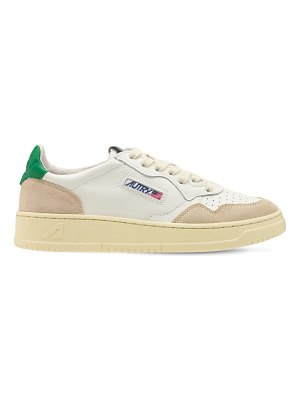 AUTRY Leather & nubuck low sneakers