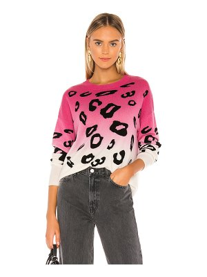Autumn Cashmere dip dyed leopard crew sweater