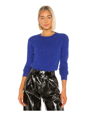 Autumn Cashmere distressed cable crew sweater