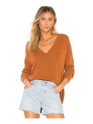 Autumn Cashmere distressed edge sweater