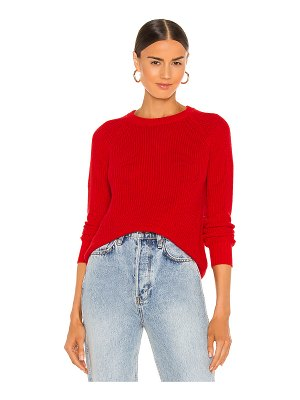 Autumn Cashmere distressed scallop shaker sweater