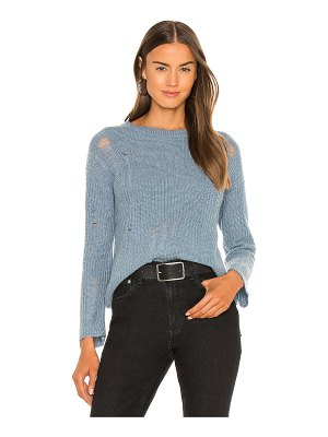 Autumn Cashmere distressed shaker crew sweater