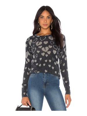 Autumn Cashmere Inked Broken Hearts Sweater