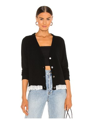 Autumn Cashmere lace trimmed loose gg cardigan
