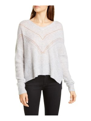 Autumn Cashmere pointelle yoke cashmere & silk sweater