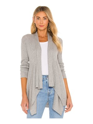 Autumn Cashmere rib drape sweater