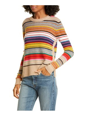 Autumn Cashmere stripe side button cashmere sweater