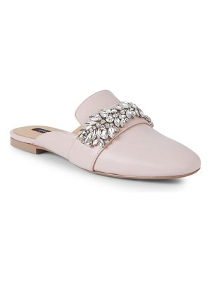AVA & AIDEN Embellished Leather Mules