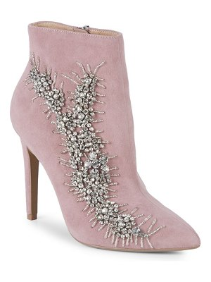 AVA & AIDEN Embellished Suede Booties