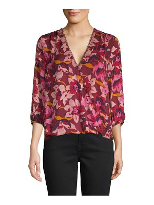 AVA & AIDEN Floral-Print Wrap Top