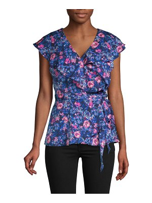 AVA & AIDEN Floral Wrap Top