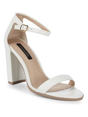 AVA & AIDEN Leather Ankle-Strap Sandals