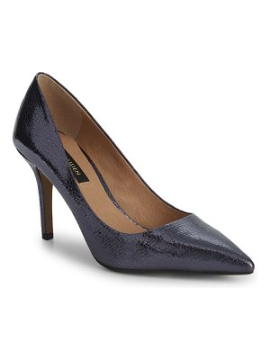 AVA & AIDEN Morgan Textured Metallic Leather Pumps