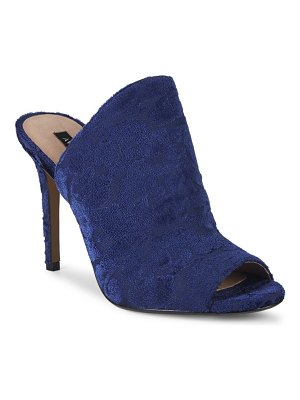 AVA & AIDEN Open Toe Velvet Stiletto Sandals