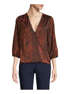 AVA & AIDEN Printed Wrap Top