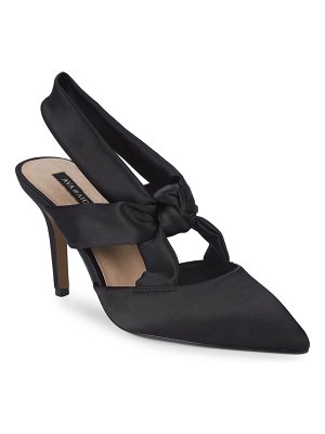 AVA & AIDEN Satin Slingback Pumps