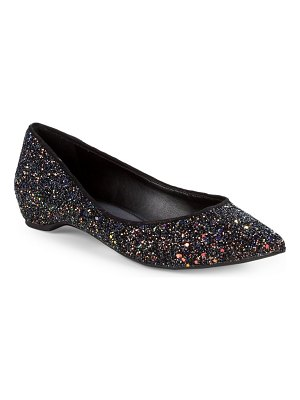 AVA & AIDEN Sequin Point-Toe Flats
