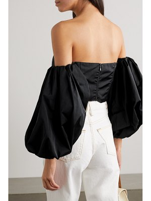 AVAVAV convertible off-the-shoulder poplin top