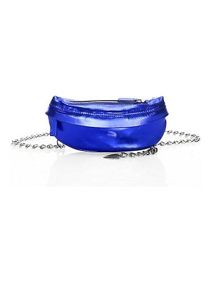 Avec La Troupe chain metallic leather belt bag