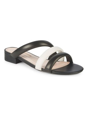 AVEC LES FILLES Carla Leather Slip-On Sandals