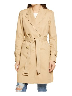 AVEC LES FILLES double breasted cotton trench coat
