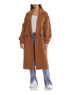 AVEC LES FILLES double breasted twill coat