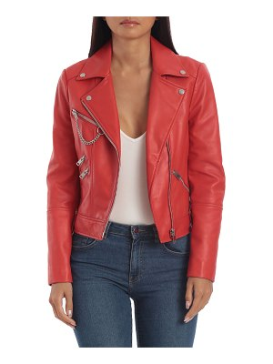 AVEC LES FILLES Hardware Heavy Leather Biker Jacket