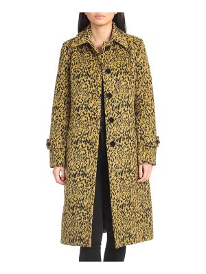 AVEC LES FILLES Leopard-Print Single-Breasted Coat