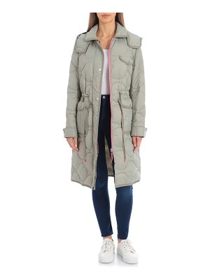 AVEC LES FILLES lightweight hooded quilted water resistant parka
