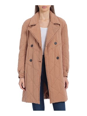 AVEC LES FILLES quilted double breasted peacoat