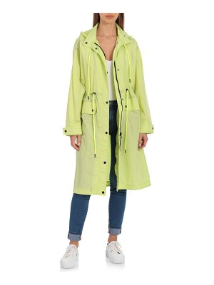 AVEC LES FILLES water resistant raincoat with removable hood