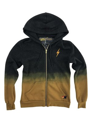 Aviator Nation faded bolt embroidered hoodie jacket