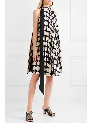 A.W.A.K.E. back to front reversible pleated polka-dot crepe dress