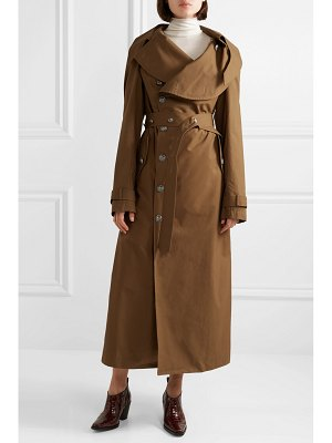 A.W.A.K.E. Mode belted cotton-gabardine trench coat