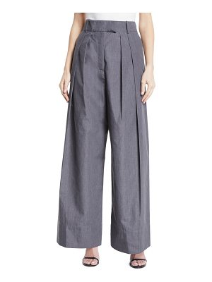 A.W.A.K.E. Crispy High-Waist Wide-Leg Pleated Pants