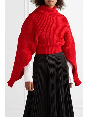 A.W.A.K.E. cropped oversized wool turtleneck sweater