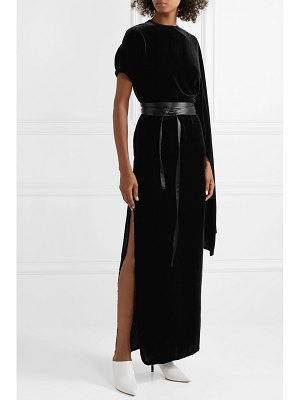 A.W.A.K.E. draped asymmetric velvet maxi dress