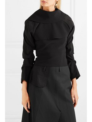 A.W.A.K.E. draped backless crepe de chine top