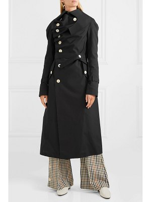 A.W.A.K.E. draped cotton-gabardine trench coat