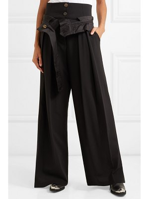 A.W.A.K.E. folded wool-blend wide-leg pants