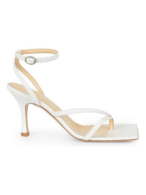 A.W.A.K.E. Mode delta asymmetric square-toe leather sandals