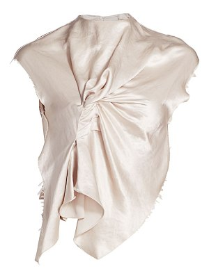 A.W.A.K.E. Mode metallic silk draped shirt