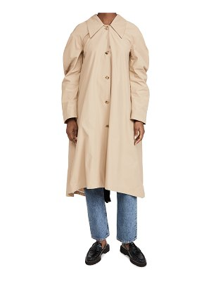 A.W.A.K.E MODE trench with pleated back inset