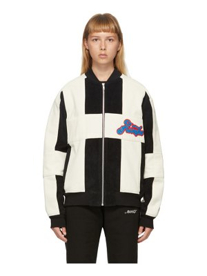 Awake NY black and off-white corduroy logo jacket